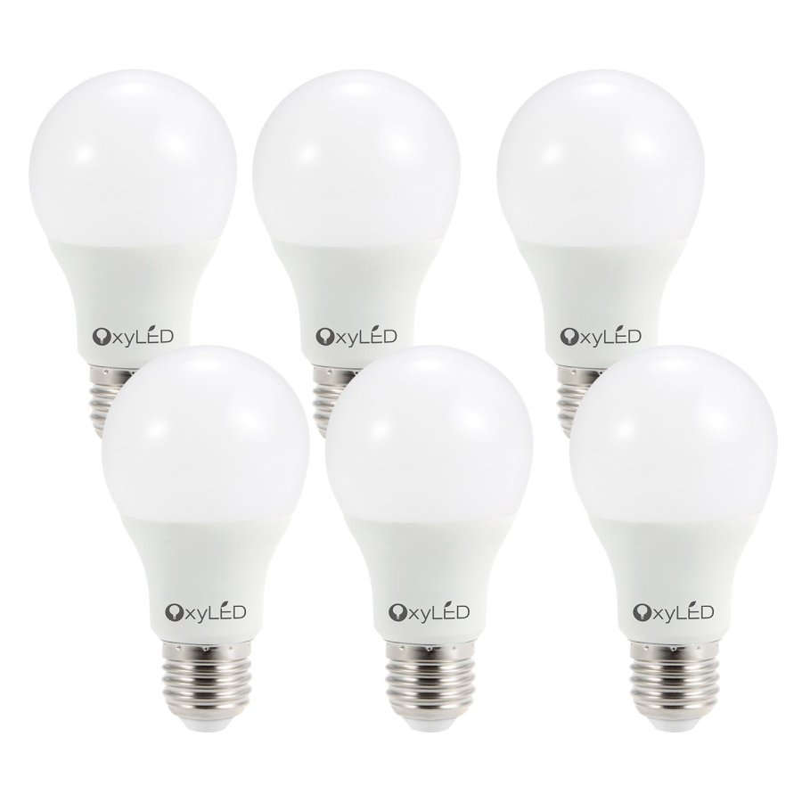 OxyLED 60W Equivalent 3000K A19 LED Light Bulb with E26 Base, Soft White (6 Pack) – Super Bright 810Lumens