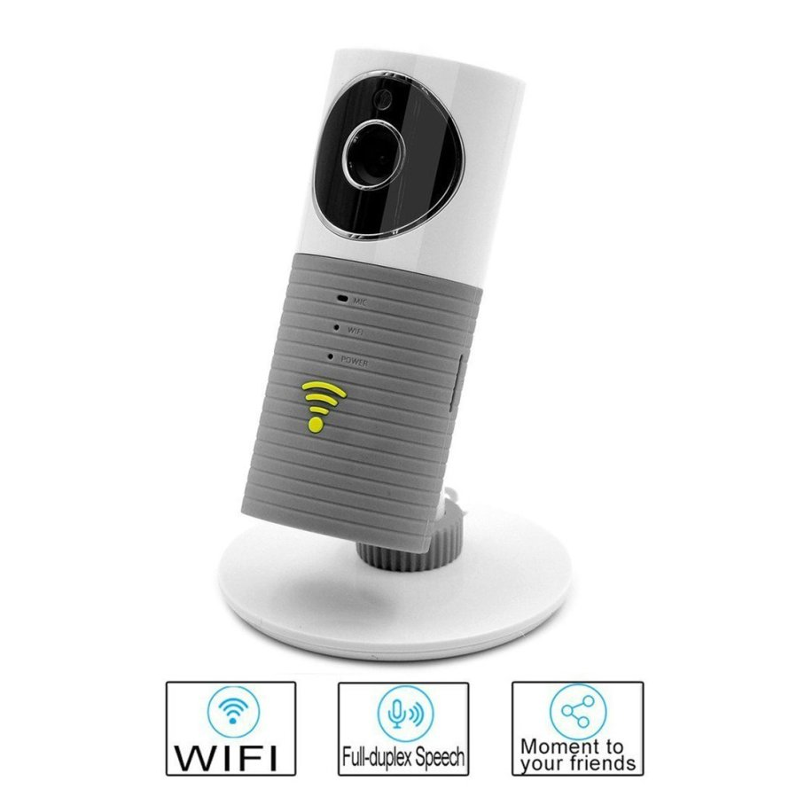 uxcell® Authorized Clever Dog Wifi Security Camera/Smart Baby Monitor,Night Vision,Record Video,2-way Audio,Motion Detected,Alert Messages for iPhone Android